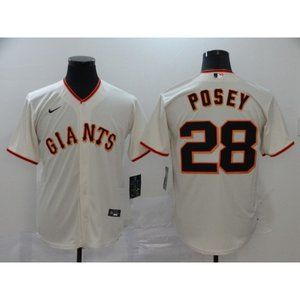 San Francisco Giants Buster Posey Cream Jersey